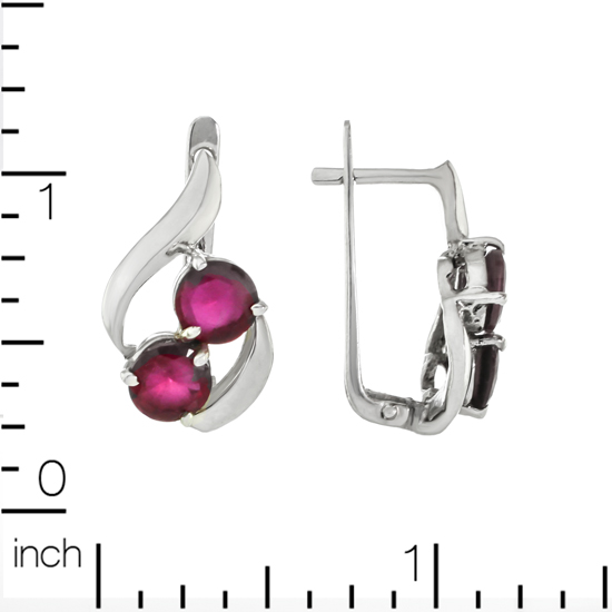 Refined Red Corundum Cherry Earrings