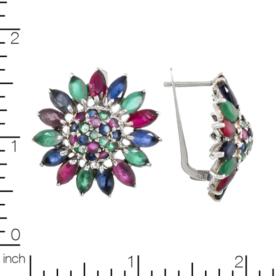 Bright Flower refined Corundums Earrings