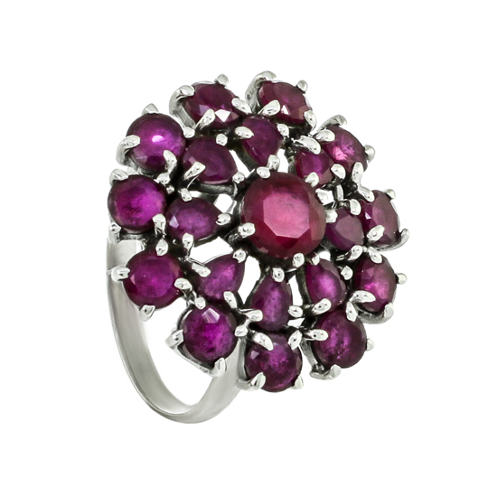 Refined Red Corundums Ring