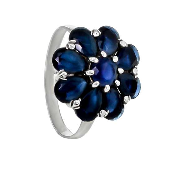 Refined Blue Corundums Ring