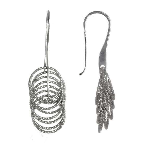 Sterling Silver Rhodium plated Dangles