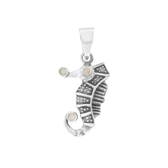 Mother of Pearl Seahorse Pendant