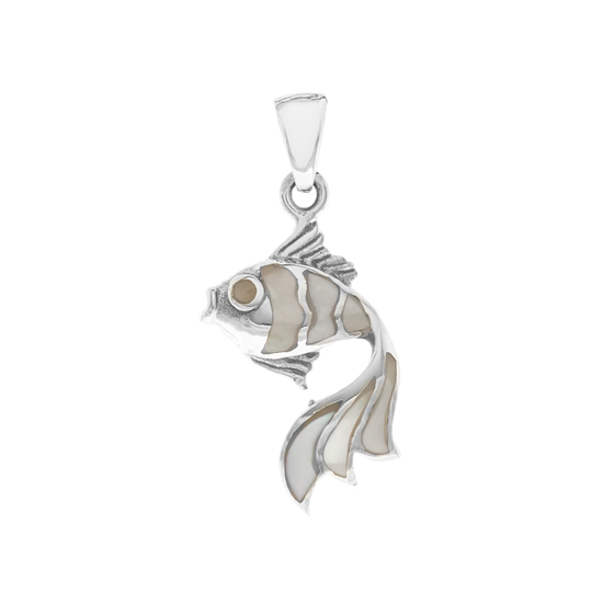 Mother of Pearl Fish Pendant
