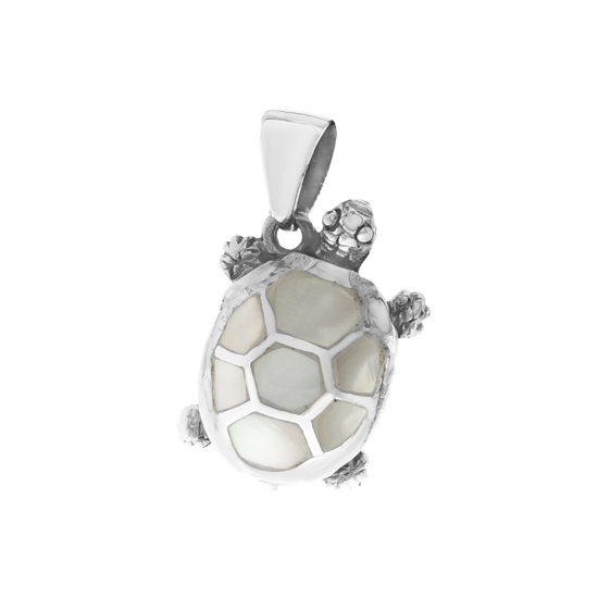 Mother of Pearl Tortoise Pendant