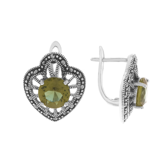Zultanite & Marcasite Earrings