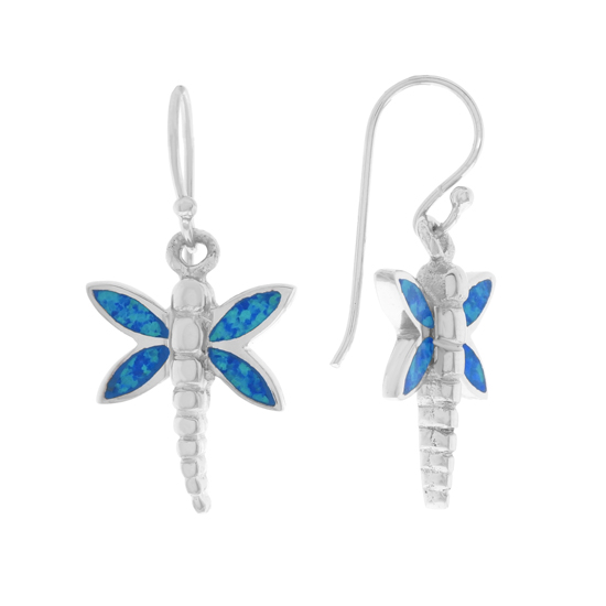 Dragonfly Opal Dangles