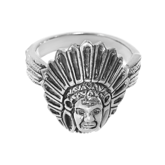 Sterling Silver Red Indian Ring