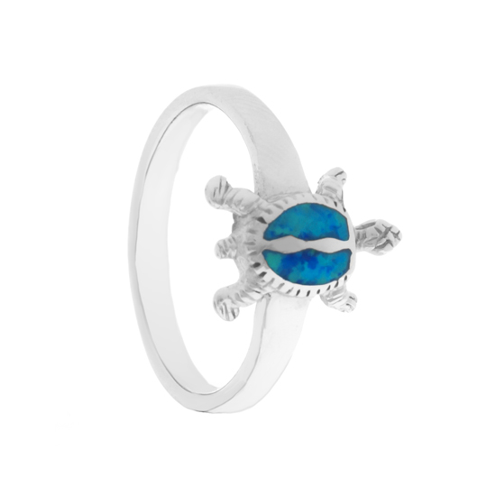 Tortoise blue Opal Ring