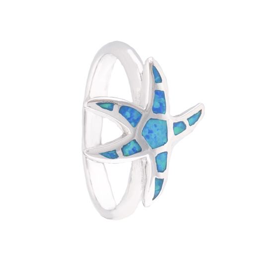 Blue Opal Starfish Ring