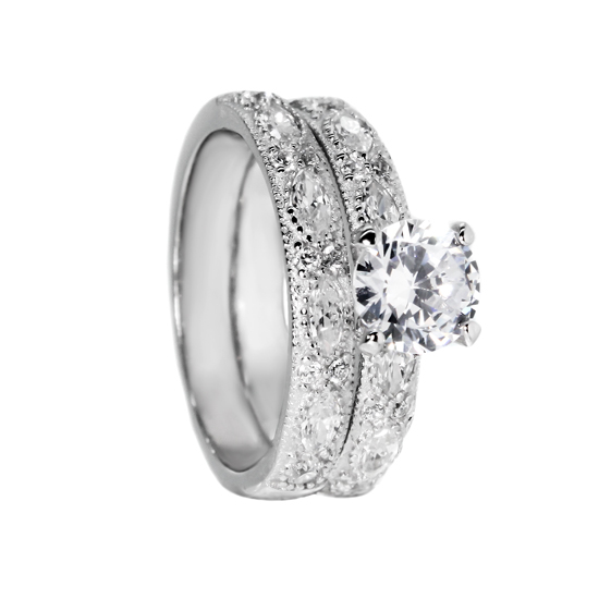 Double Rhodium plated CZ Ring