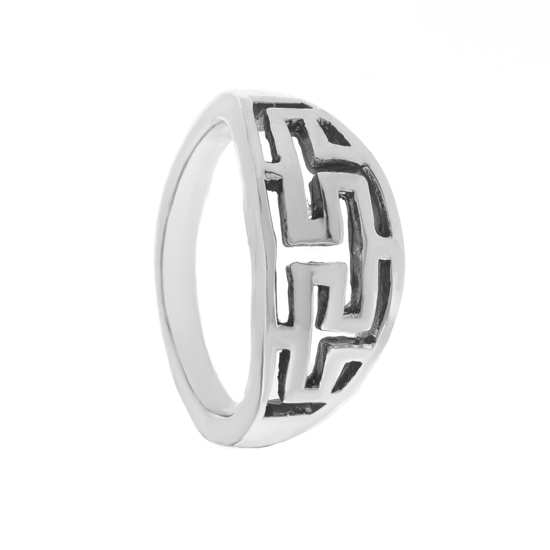 Sterling Silver Maze Ring